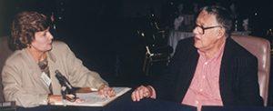Jeanette Goodman &Warren Steibel on the set of Firing Line