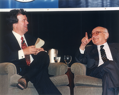 Milton Friedman gave us credit for the repeal of the Medicare Catastrophic Coverage Act.