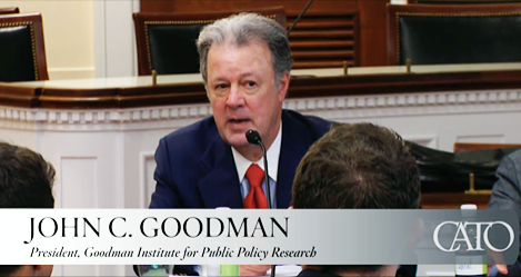 John Goodman spoke at a Cato Institute briefing on Capitol Hill.