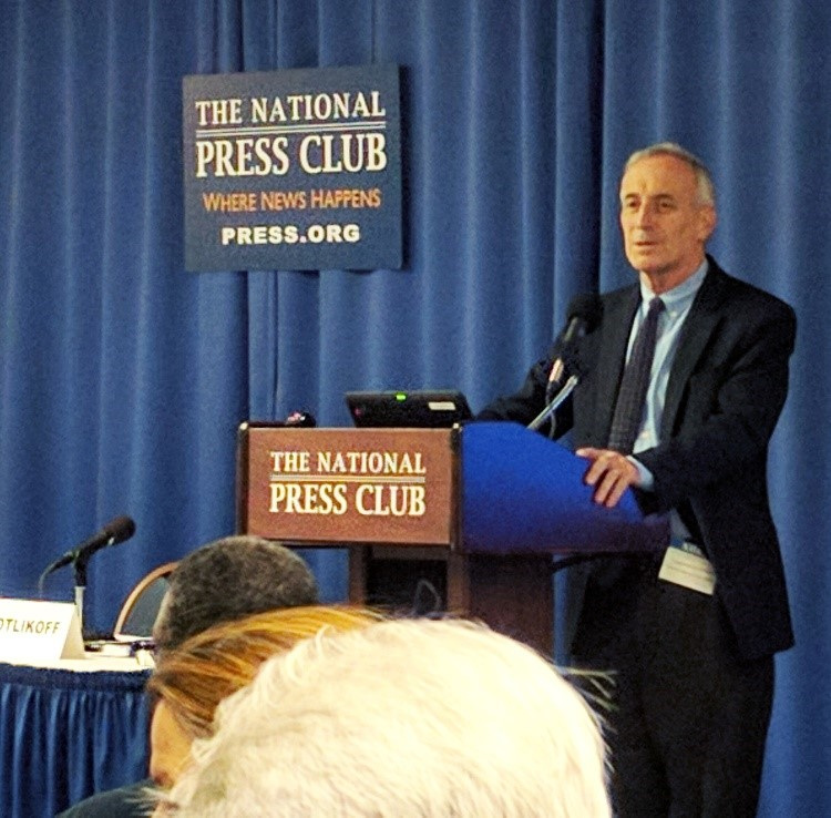 Laurence Kotlikoff unveiled his tax model at the National Press Club on September 21